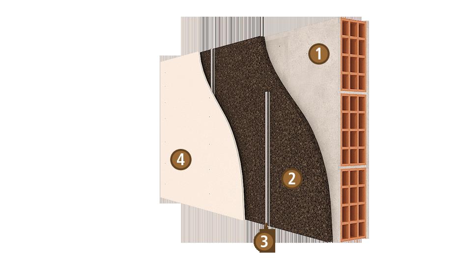 l 39 isolation des murs en li ge expans isocor isolation en li ge. Black Bedroom Furniture Sets. Home Design Ideas