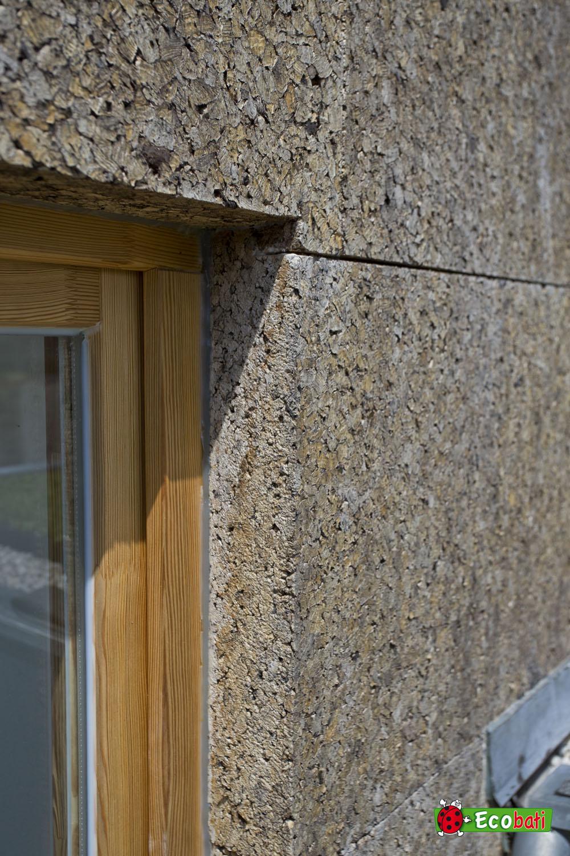 Isolation de la façade en isoliège pour un confort thermique été comme hiver